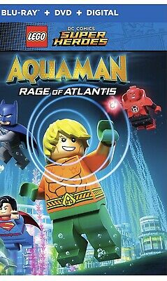 LEGO DC Super Heros:AQUAMAN:Rage of Atlantis (Blu-ray+DVD + Digital HD, 2018)NEW
