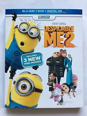 Despicable Me 2 (Blu-ray/DVD, 2013, 2-Disc Set), with Slipcover, Like New!