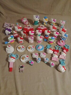 Preowned Hello Kitty Figure Lot of 40