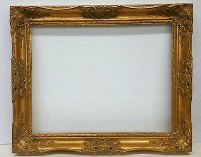Ornate Rococo-Style Gilt Gold Wood Frame