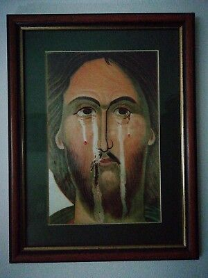 Jesus Christ Resurrection Picture, lovely glass frame size 13, inch by 17 aprox
