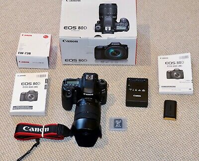 CANON EOS 80D DSLR CAMERA | EF-S 18-135MM F/3.5-5.6 IS USM LENS KIT and Extras