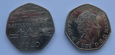 FIFTY PENCE COIN 50p - 2015 Battle of Britain circulated
