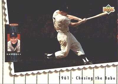 1994 Upper Deck Mantle Heroes #68 Mickey Mantle/1961 Chasing The Babe