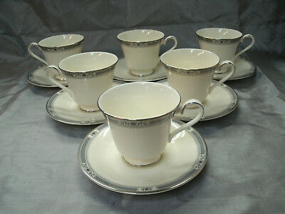 Royal Doulton MELISSA 6 Tea Coffee Cup & Saucer Sets The Romance Collection EC