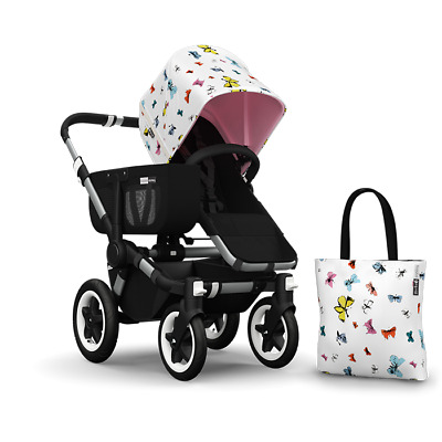 Bugaboo Donkey hood. Limited Edition Andy Warhol Pink Butterflies