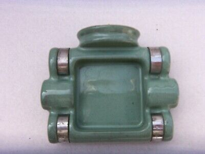 Vintage Home  Architectural Wall Mount Soap Dish  Green & Chrome