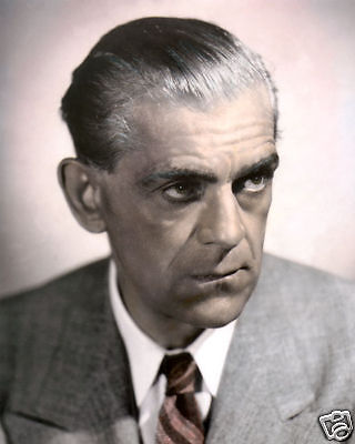 "BORIS KARLOFF THE BOOGIE MAN WILL GET YOU 1942 8x10"" HAND COLOR TINTED PHOTO"