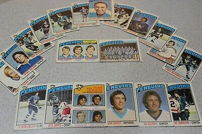 1976-77 O-Pee-Chee OPC - PITTSBURGH PENGUINS - 20 card lot - LAROUCHE, APPS