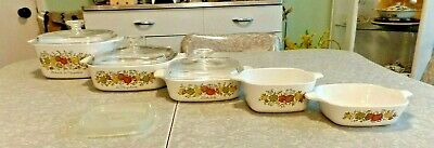"""CORNING WARE """"SPICE of LIFE"""" 9 PC. BAKEWARE SET..... VERY, VERY CLEAN"""
