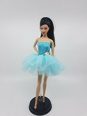 New Barbie doll clothes outfit princess wedding cocktail ballet dress tutu