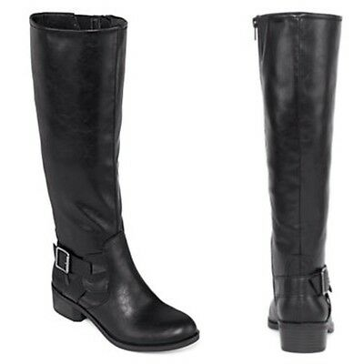 2dfde049582  90 ARIZONA BLACK Dylan Wide-Shaft Womens Riding Boots Size 7 NEW ...