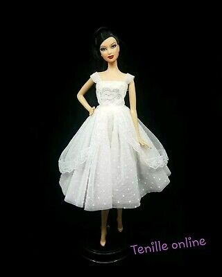 New Barbie clothes outfit princess wedding dress gown white lace
