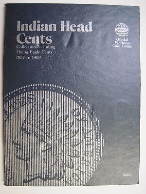 Partial Circulated Indian Head Cent Set in a Whitman Folder Uncertified Ungraded