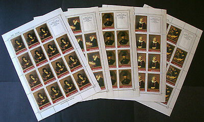Stamps Russia Mini Sheets # 5129-5134 Rembrandt Paintings Art Hermitage Series