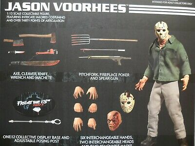 Mezco NEW * One:12 Jason Voorhees * Friday the 13th Collective Action Figure