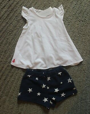 Ralph Lauren Baby Girls 2 Piece Outfit (Shorts & Top) - Size 24 Months - NWT