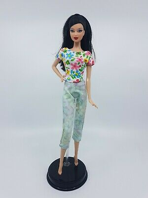 New Barbie doll clothes fashion outfit dress  flower print pants