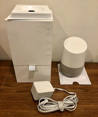 Google Home Personal Assistant Voice Activated Speaker | White / Slate