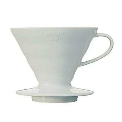 Hario : V60 Ceramic coffee dripper 02 - White w Spoon (VDC-02W) for 2-4 cups