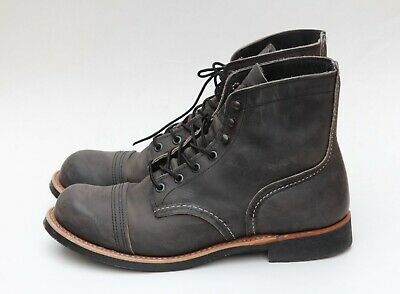 9c28debd3ec RED WING IRON Ranger Boots 8086 Size 9.5 Men's Grey Rough Leather Ankle Boot