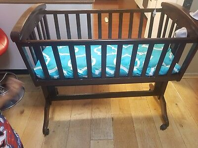 HiYour purchasing well known Mothercraft brand cradle, dark brown.