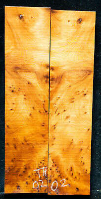 """Thuyu Burl #02 Knife Scales 7.2""""x1.7""""x 3/8"""" see 100 species in my store"""