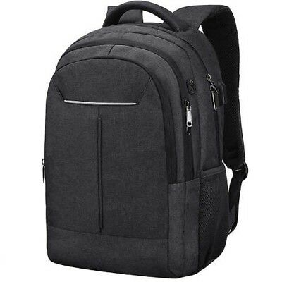 NEWHEY Waterproof Anti Theft Mens Backpack BK + USB Charging Port Japan Tracking