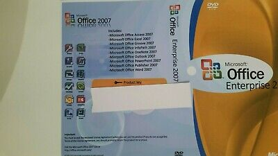 Microsoft Office 2007 Enterprise For Windows 7,10 64/32bit Word/Excel/Outlook/Po