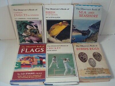 Lot Of 'The Observer's Book Of' - Sea, Birds, Flags, Insects, Cricket, Birds Egg