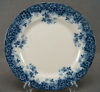 Booths Canterbury Pattern Flow Blue Semi Porcelain Dinner Plate C. 1891 - 1906 A