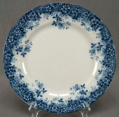 Booths Canterbury Pattern Flow Blue Semi Porcelain Dinner Plate C. 1891 - 1906 B