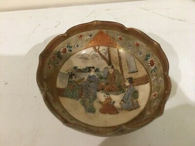 Antique Japanese Satsuma Bowl Meiji Period