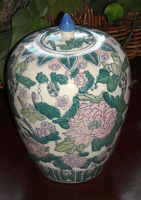 Painted Floral Ginger Jar Made in China Free Shipping