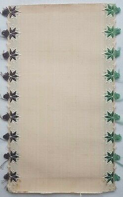 Antique Silk Ribbon Coupon Sample Florals  Ruffle Edge French 1800's #7