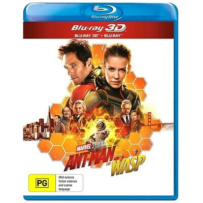Ant-Man and the Wasp (3D + Blu-ray) Region B ***BRAND NEW & SEALED***