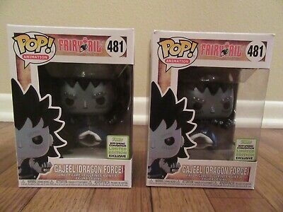 (2) Funko Pop! Animation Fairy Tail #481 Gajeel (Dragon Force) Spring Convention