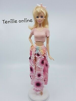 New Barbie doll clothes fashion outfit interesting skirt top pink flowers