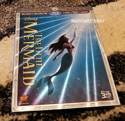 The Little Mermaid 3D (Blu-ray/DVD 2013 3-Disc Set Diamond Edition) Disney