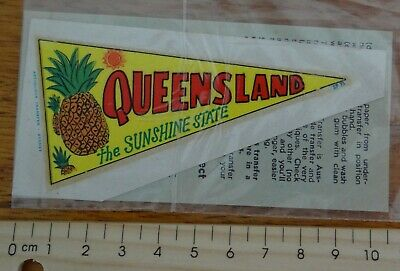 1 x OLD SCHOOL QUEENSLAND THE SUNSHINE STATE PENNANT DEKAL CAR TRANSFER