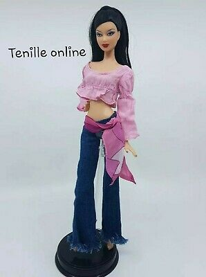 New Barbie doll clothes fashion outfit dress good quality Jeans pants pink