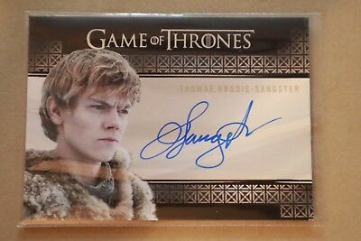 Game Of Thrones Season 7 - Trading Cards Thomas Brodie Sangster Autograph Card