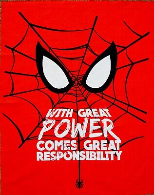 "L80/"" x W35/"" Inches PolyCotton Marvel Spider-Man PANEL Fabric RED"