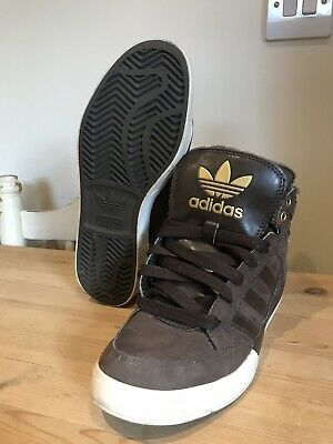 adidas ladies trainers size 5.5 UK 6 US Boots Brown Worn Once