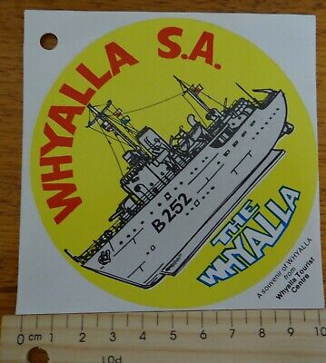 "1 x RETRO ""THE WHYALLA SOUTH AUSTALIA COLLECTABLE STICKER"