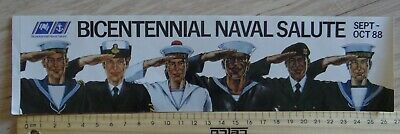 1 x BICENNTENIAL NAVAL SALUTE SEPT OCT 88 AUSTRALIA COLLECTABLE STICKER