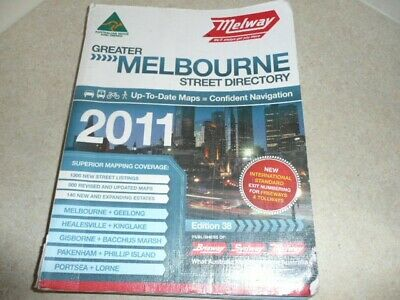 MELWAY 2011 Edition, Greater Melbourne Street Directory, Good Condition