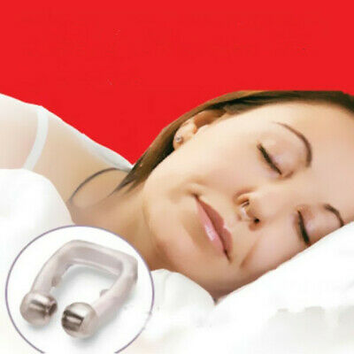 Stop Snoring Care Snore Anti Nose Clip Tray Guard Device Magnetic Apnea Sleeping