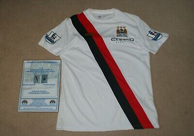 MANCHESTER CITY - 2009-2011 MCFC away 3rd match worn Man City shirt