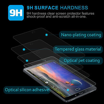 """Tempered Glass Screen Protector For Samsung Galaxy Tab A 7"""", 8"""", 10.5"""", S4"""